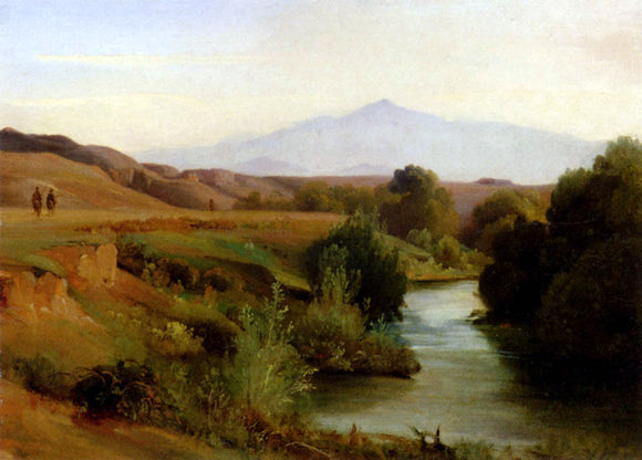 Jean-Baptiste-Adolphe Gibert A View Of The Roman Campagna - Canvas Art Print