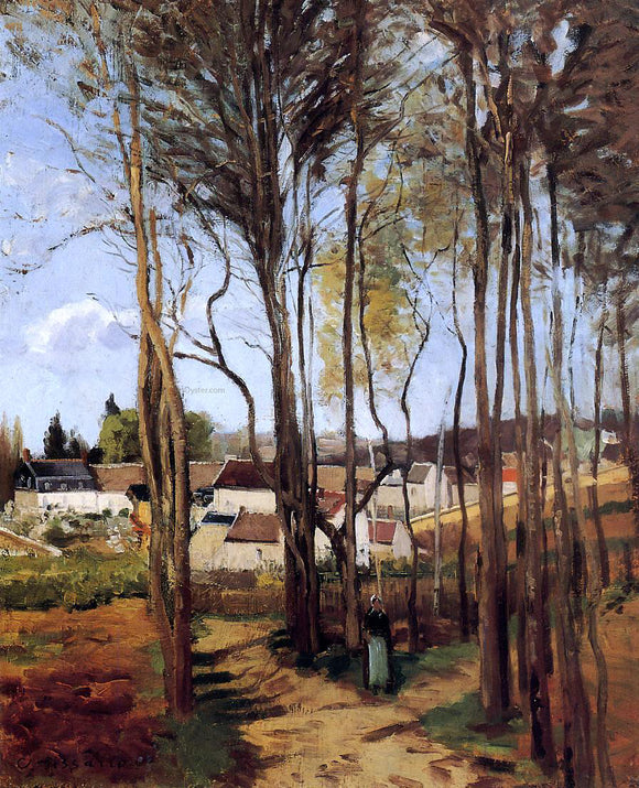 Camille Pissarro A Village Through the Trees - Canvas Art Print