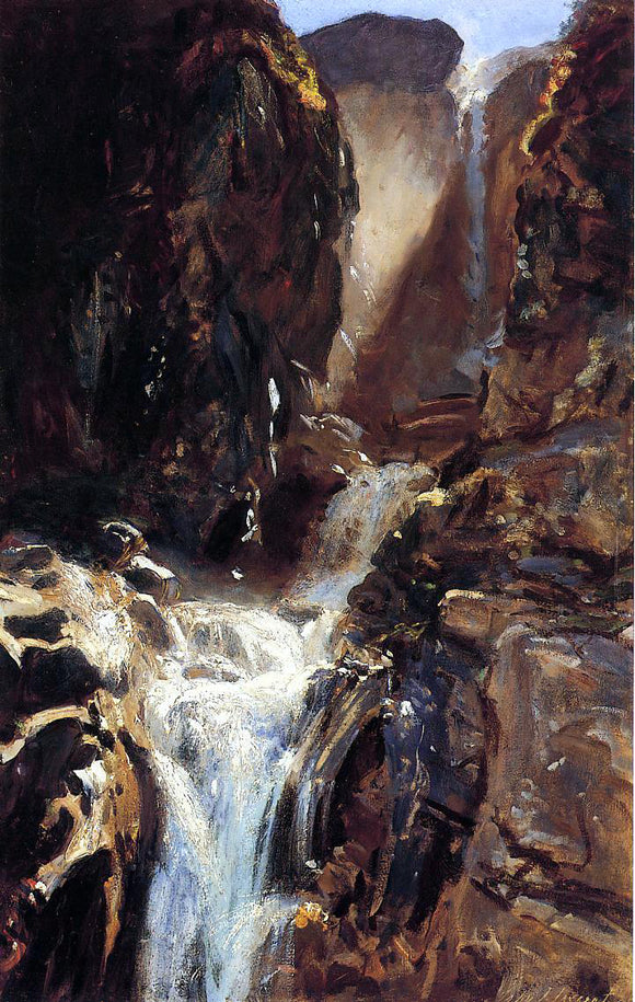 John Singer Sargent A Waterfall - Canvas Art Print