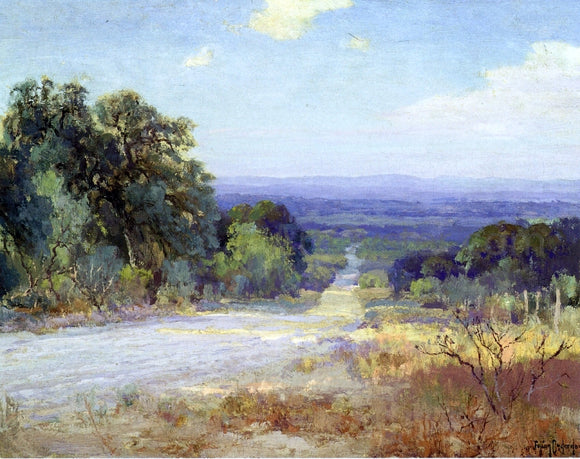 Julian Onderdonk A White Road at Late Afternoon - Canvas Art Print