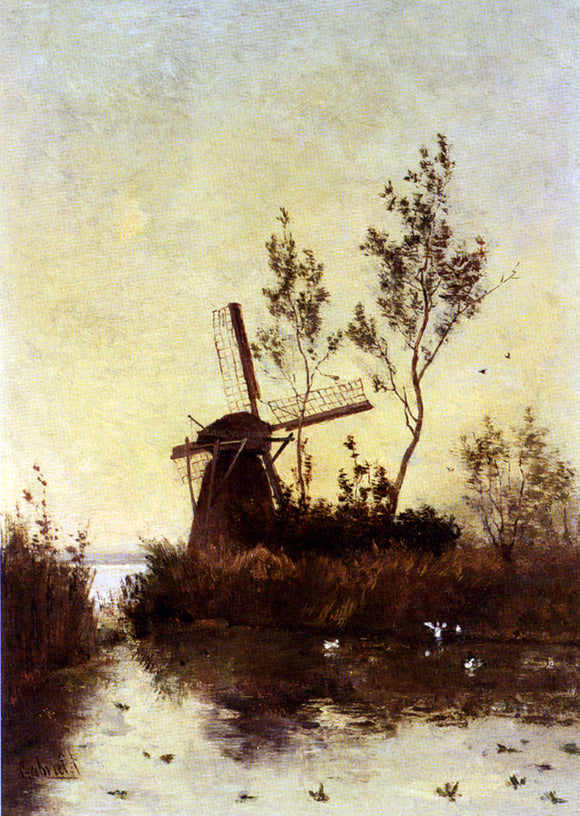 Paul Constantine Gabriel Windmill At Dusk - Canvas Art Print