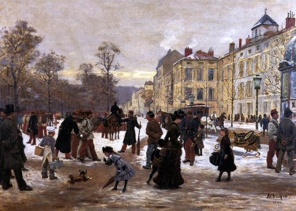 Leon Joseph Voirin A Winter's Day - Canvas Art Print