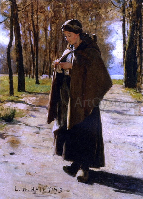 Louis Welden Hawkins A Young Peasant - Canvas Art Print