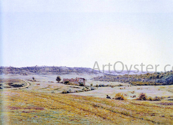 Jean Ferdinand Monchablon A Young Shepherd In An Extensive Landscape - Canvas Art Print