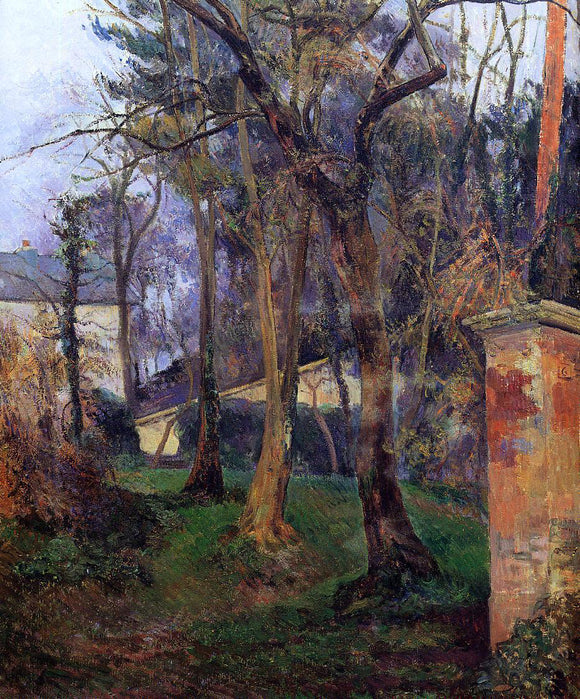 Paul Gauguin Abandoned Garden, Rouen - Canvas Art Print