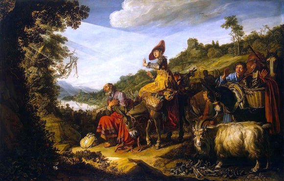 Pieter Lastman Abraham's Journey to Canaan - Canvas Art Print