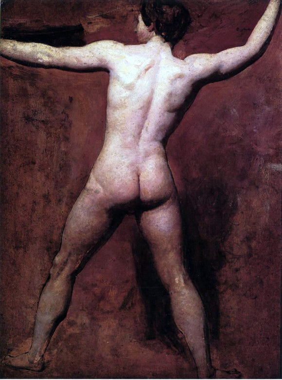 William Etty Academic Male Nude - Canvas Art Print