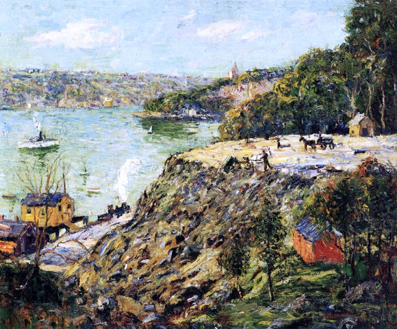 Ernest Lawson Across the River, New York - Canvas Art Print