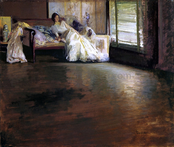 Edmund Tarbell Across the Room (also known as By the Window or Leisure Hour) - Canvas Art Print