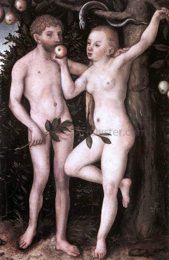 The Elder Lucas Cranach Adam and Eve - Canvas Art Print