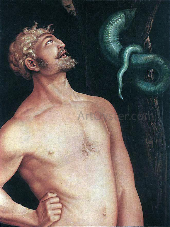 Hans Baldung Adam (detail) - Canvas Art Print