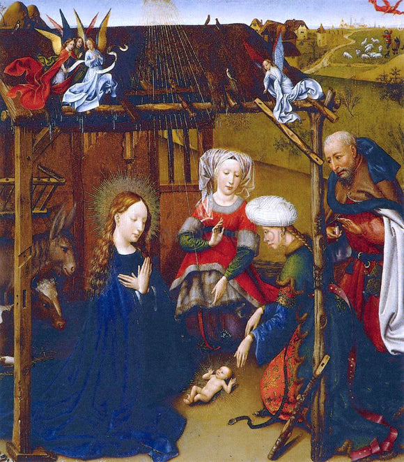 Jacques Daret Adoration of the Child - Canvas Art Print