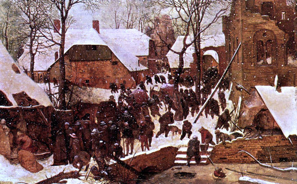 The Elder Pieter Bruegel Adoration of the Kings in the Snow - Canvas Art Print