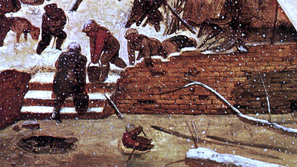 The Elder Pieter Bruegel Adoration of the Kings in the Snow (detail) - Canvas Art Print