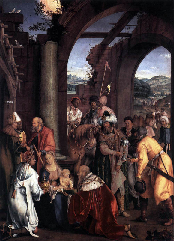 Hans Suss Von Kulmbach  Adoration of the Magi - Canvas Art Print