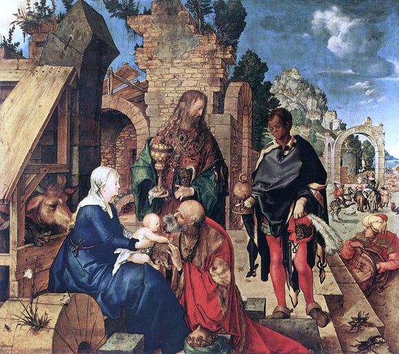 Albrecht Durer Adoration of the Magi - Canvas Art Print