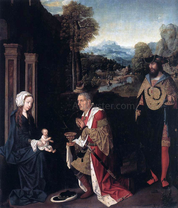 Master of Hoogstraeten Adoration of the Magi - Canvas Art Print