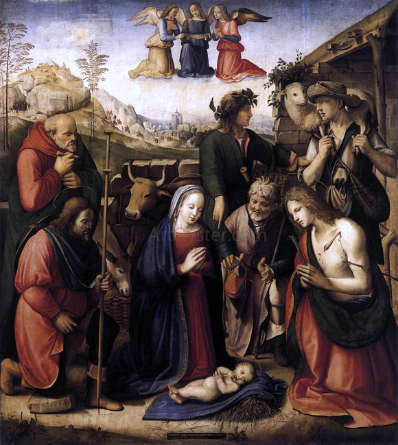 Ridolfo Ghirlandaio Adoration of the Shepherds - Canvas Art Print