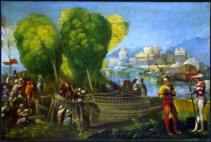 Dosso Dossi Aeneas and Achates on the Libyan Coast - Canvas Art Print