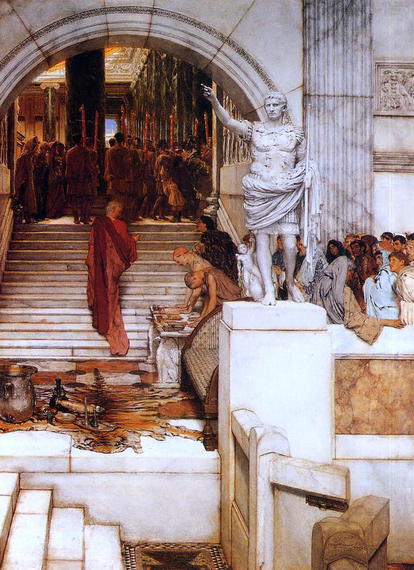 Sir Lawrence Alma-Tadema After the Audience - Canvas Art Print