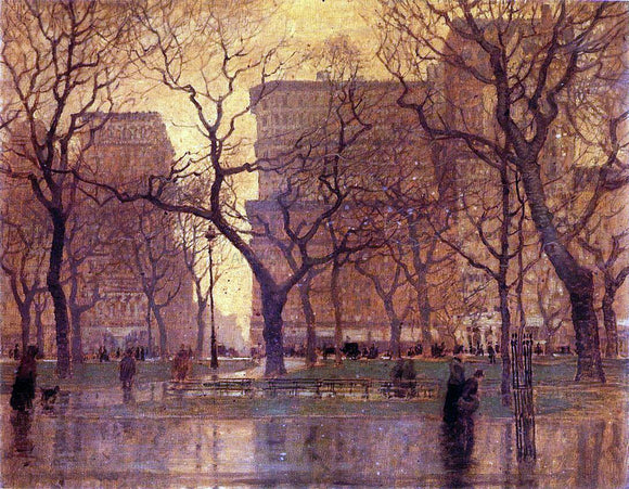 Paul Cornoyer After the Rain - Canvas Art Print