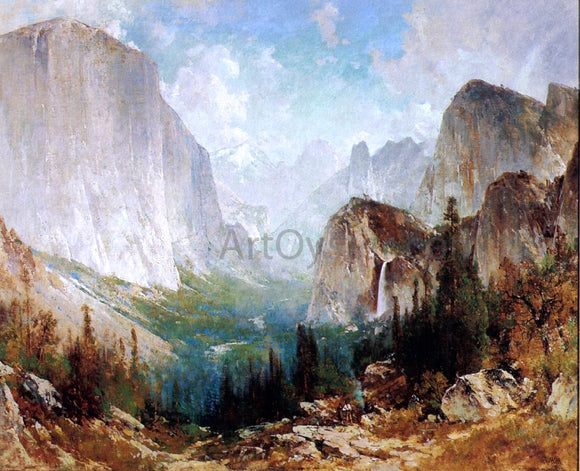 Thomas Hill After the Storm, Yosemite Valley - Canvas Art Print