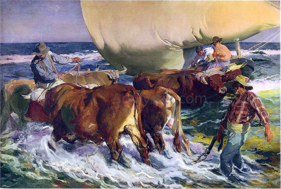 Joaquin Sorolla Y Bastida Afternoon Sun - Canvas Art Print