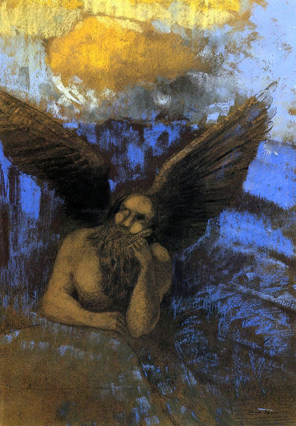 Odilon Redon Aged Angel - Canvas Art Print