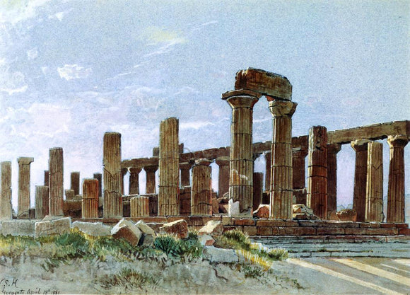 William Stanley Haseltine Agrigento - Canvas Art Print