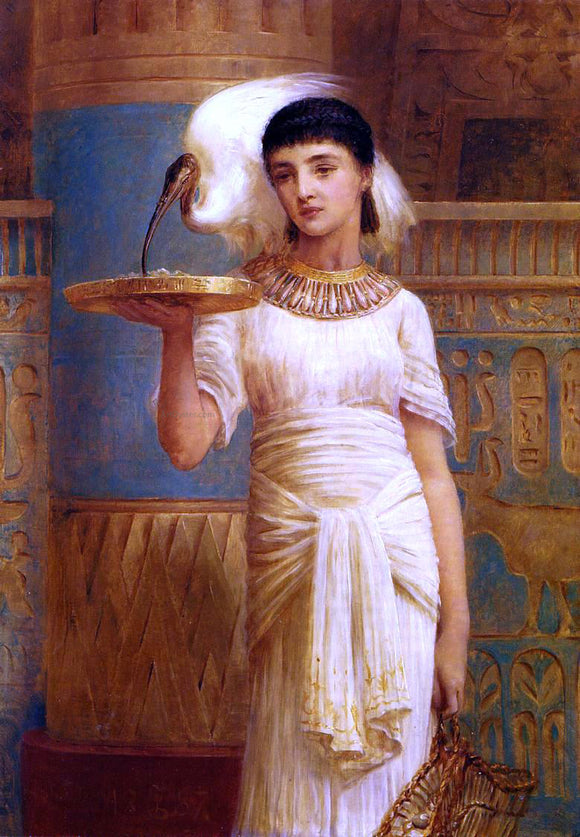 Edwin Longsden Long Alethe, Attendent of the Sacred Ibis - Canvas Art Print