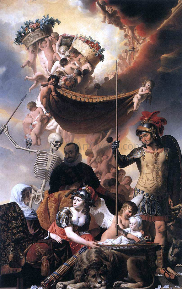Caesar Van Everdingen Allegory of the Birth of Frederik Hendrik - Canvas Art Print