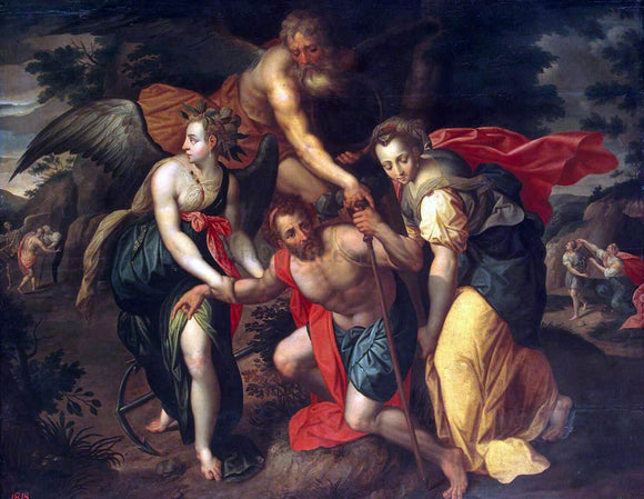 Jacob De Backer Allegory of the Three Ages of Man - Canvas Art Print
