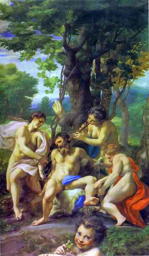 Correggio Allegory of the Vices - Canvas Art Print