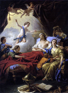 Louis-Jean-Francois Lagrenee Allegory on the Death of the Dauphin - Canvas Art Print