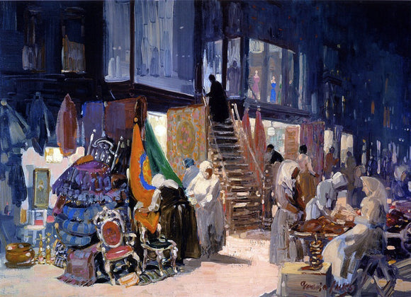 George Luks Allen Street - Canvas Art Print