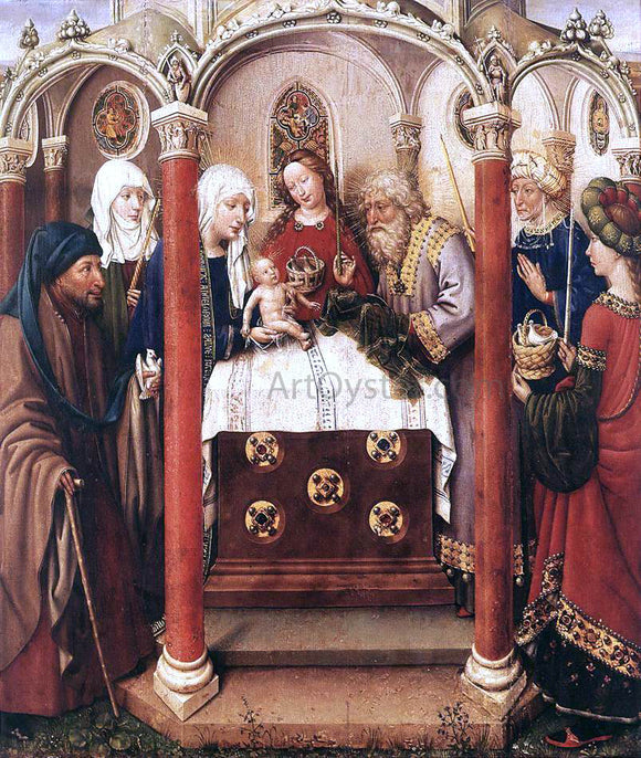 Jacques Daret Altarpiece of the Virgin - Canvas Art Print