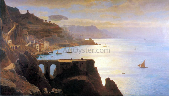 William Stanley Haseltine Amalfi Coast - Canvas Art Print