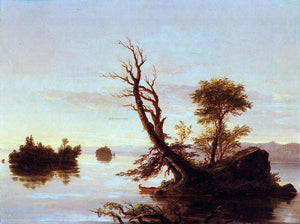Thomas Cole American Lake Scene - Canvas Art Print