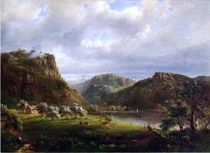 Marie-Francois-Regis Gignoux American Landscape (also known as Majesty of the Mountains) - Canvas Art Print