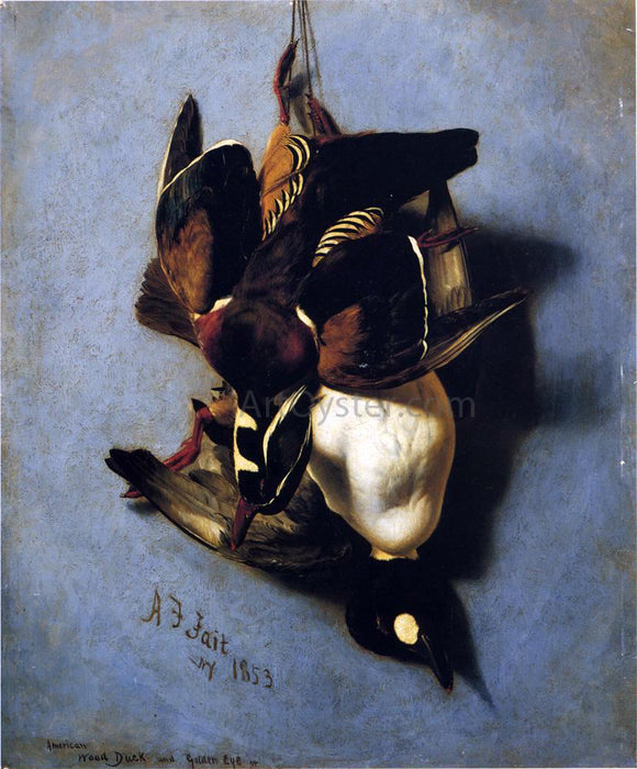 Arthur Fitzwilliam Tait American Wood Duck and Golden Eye - Canvas Art Print