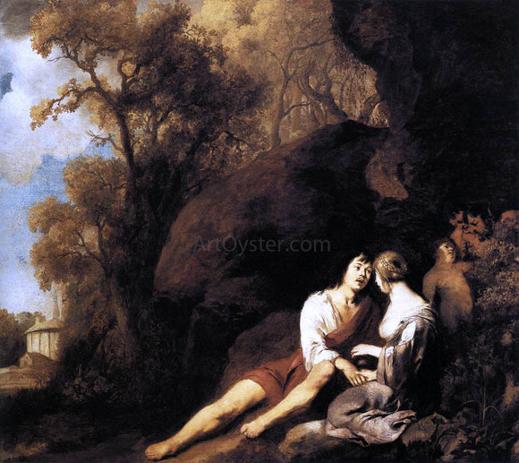 Sir Peter Lely Amorous Couple in a Landscape - Canvas Art Print