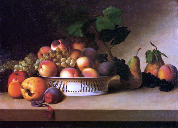James Peale An Abundance of Fruit - Canvas Art Print