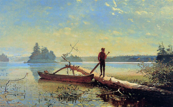 Winslow Homer An Adirondack Lake - Canvas Art Print