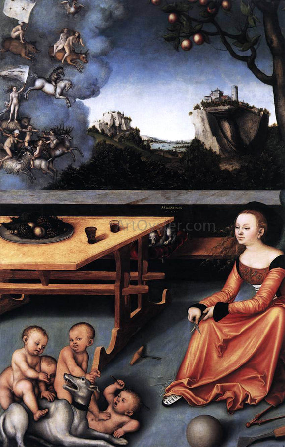 The Elder Lucas Cranach An Allegory of Melancholy - Canvas Art Print