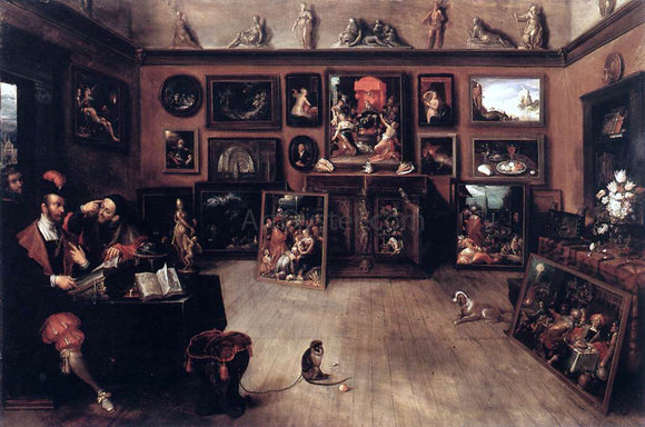 II Frans Francken Antique Dealer's Gallery - Canvas Art Print