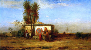 Robert Swain Gifford An Arab Fountain (also known as Near Cairo) - Canvas Art Print