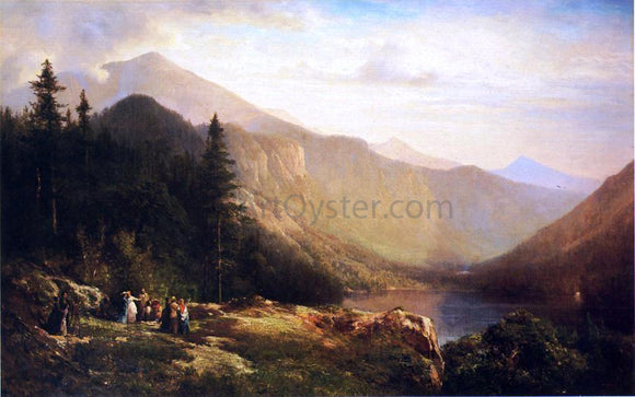 Thomas Hill An Artist's View of Mt. Lafayette - Canvas Art Print