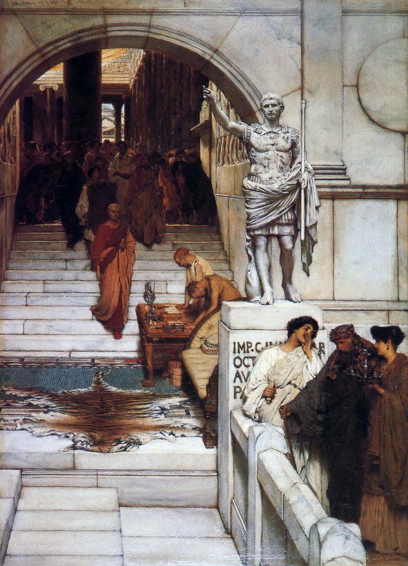 Sir Lawrence Alma-Tadema An Audience at Agrippa's - Canvas Art Print