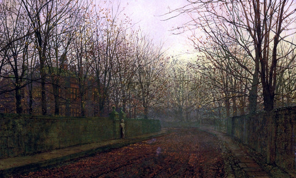 John Atkinson Grimshaw An Autumn Lane - Canvas Art Print