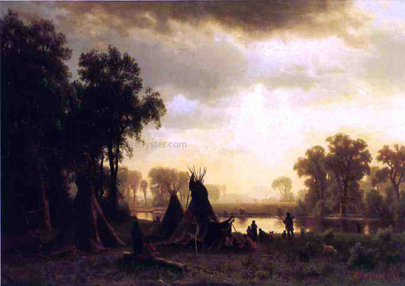 Edmund Montague Morris An Indian Encampment - Canvas Art Print